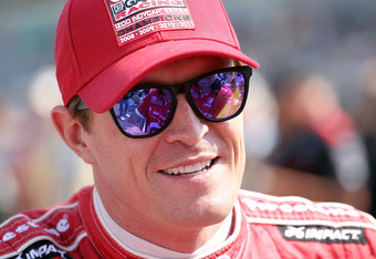 INDIANAPOLIS, IN - MAY 19:  Scott Dixon the driver of the #9 Target Chip Ganassi Racing car prepares for his qualifying run for the Indianapolis 500 at Indianapolis Motor Speedway on May 19, 2012 in Indianapolis, Indiana.  (Photo by Andy Lyons/Getty Image