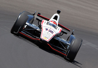 INDIANAPOLIS, IN - MAY 18:  Will Power drives the #12 Verizon Team Penske car during Indianapolis 500 practice at Indianapolis Motor Speedway on May 18, 2012 in Indianapolis, Indiana.  (Photo by Andy Lyons/Getty Images)