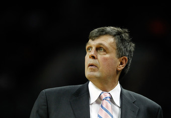 CHARLOTTE, NC - JANUARY 10:  Head coach Kevin McHale of the Houston Rockets watches on during their game against the Charlotte Bobcats at Time Warner Cable Arena on January 10, 2012 in Charlotte, North Carolina.   NOTE TO USER: User expressly acknowledges