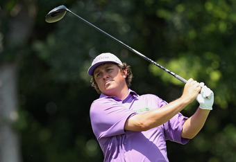FORT WORTH, TX - MAY 26:  Jason Dufner watches his tee shot on the 12th hole during the third round of the Crowne Plaza Invitational at Colonial at the Colonial Country Club on May 26, 2012 in Fort Worth, Texas.  (Photo by Scott Halleran/Getty Images)