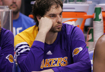 Pau has all but played his last game in a Laker uniform