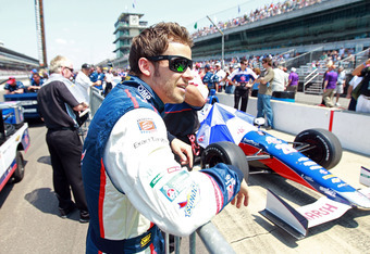 INDIANAPOLIS, IN - MAY 19:  Marco Andretti the driver of the Team RC Cola car prepares for his qualifying run for the Indianapolis 500 at Indianapolis Motor Speedway on May 19, 2012 in Indianapolis, Indiana.  (Photo by Andy Lyons/Getty Images)