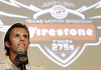 FORT WORTH, TX - MAY 31: Dan Wheldon talks about winning the Indy 500 during the Indy 500 Champion's luncheon at Frankie's Sports Bar & Grill on May 31, 2011 in Fort Worth, Texas. (Photo by Brandon Wade/Getty Images for TMS)