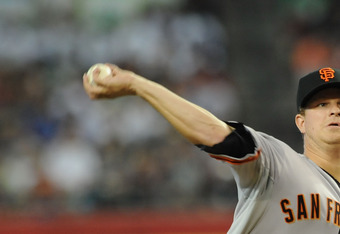 Giants pitcher Matt Cain