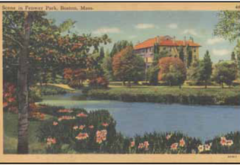 This 1912-era postcard shows the Fenway at its most serene.