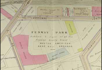 Fenway as it appeared in the 1912 City of Boston Atlas.