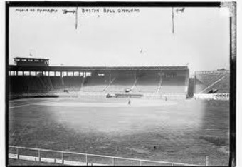 Fenway Park under construction in early 1912.