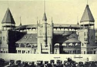 Boston's castle-like South End Grounds II burned to the ground in 1894.