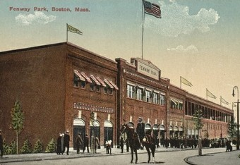 Fenway's original facade has changed little through the years.