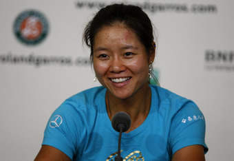 PARIS, FRANCE - MAY 25:  Li Na of China smiles as she speaks to members of the media during a press conference ahead of the French Open at Roland Garros on May 25, 2012 in Paris, France.  (Photo by Dan Istitene/Getty Images)