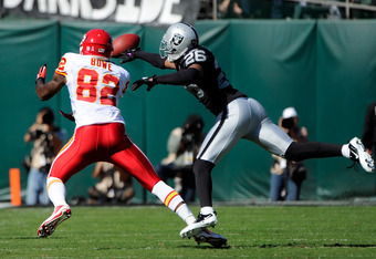 Stanford Routt will be teaming with Dwayne Bowe, not defending him this season.