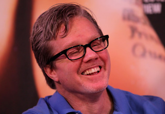 BEVERLY HILLS, CA - FEBRUARY 21:  Trainer Freddie Roach laughs at a press conference announcing the upcoming World Boxing Organization welterweight championship fight between Manny Pacquiao and Timothy Bradley at The Beverly Hills Hotel on February 21, 20