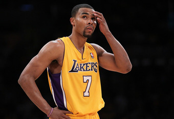 LOS ANGELES, CA - MAY 08:  Ramon Sessions #7 of the Los Angeles Lakers reacts in the fourt quarter as the Lakers take on the Denver Nuggets in Game Five of the Western Conference Quarterfinals in the 2012 NBA Playoffs on May 8, 2012 at Staples Center in L