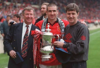 Eric Cantona scored the winner against Liverpool in the 1996 FA Cup final.