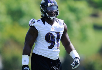 Rookie Ravens LB Courtney Upshaw certainly is dealing with high expectations, but not as much as Weeden