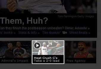 ESPN prematurely headlines a Celtics defeat in Game 2 of the 2012 Eastern Conference Finals