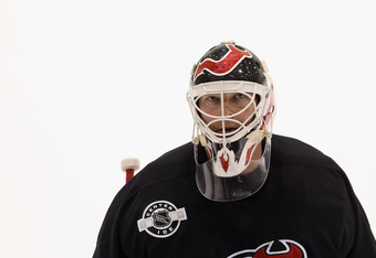 NEWARK, NJ - MAY 29: Martin Brodeur #30 of the New Jersey Devils leaves the ice following the media day skate at the AmeriHealth Pavilion the day prior to Game One of the Stanley Cup Final at Prudential Center on May 29, 2012 in Newark, New Jersey.  (Phot