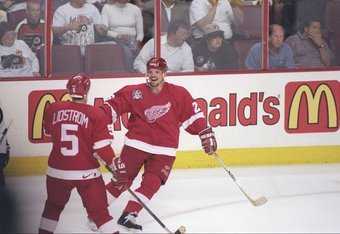 15 years to the day of this Red Wings win over the Flyers in the Stanley Cup Finals, Lidstrom could announce his retirement.