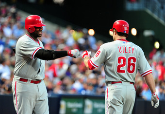 Ryan Howard and Chase Utley are still a ways away from returning to the Phils' lineup