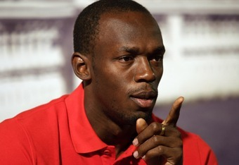 ROME, ITALY - MAY 29:  Olympic 100m champion Usain Bolt of Jamaica attends an IAAF Golden Gala press conference on May 29, 2012 in Rome, Italy.  (Photo by Paolo Bruno/Getty Images)