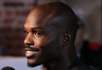LOS ANGELES, CA - MAY 29:  Timothy Bradley answers questions at a media workout  at Fortune Gym on May 29, 2012 in Los Angeles, California.  The workout is in advance of Bradley's upcoming WBO welterweight championship fight against Manny Pacquiao on June