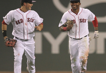 The Red Sox are all smiles after winning three in a row.