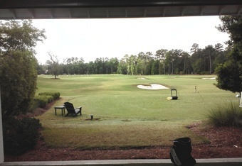Krista's World at the back of the range in a state-of-the-art practice facility.