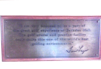 Tom fazio proclaims the practice facility at Berkeley Hall where he designed both courses to be one of the world's best. It is!