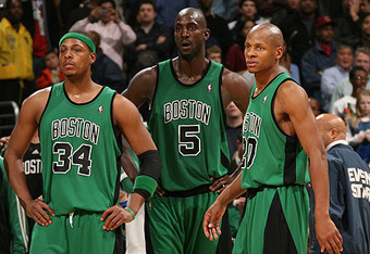 Paul Pierce, Kevin Garnett and Ray Allen won't go down without a fight. (AP Photo)
