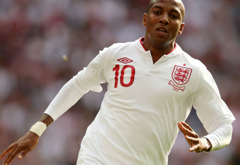 LONDON, ENGLAND - JUNE 02:  Ashley Young of England in action during the international friendly match between England and Belgium at Wembley Stadium on June 2, 2012 in London, England.  (Photo by Ian Walton/Getty Images)