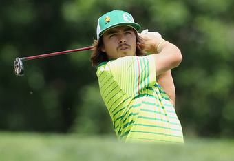DUBLIN, OH - JUNE 02:  Rickie Fowler watches his tee shot on the third hole during the third round of the Memorial Tournament presented by Nationwide Insurance at Muirfield Village Golf Club on June2, 2012 in Dublin, Ohio.  (Photo by Scott Halleran/Getty