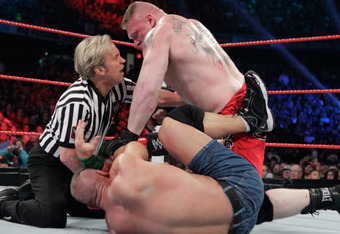 Brock Lesnar could return to WWE storylines sooner than you think. (From WWE.com)