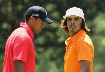 Rickie Fowler was paired with Tiger on Sunday