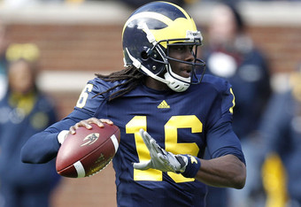 Michigan QB Denard Robinson