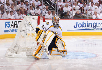 Pekka Rinne of Nashville should be the 2012 Vezina.