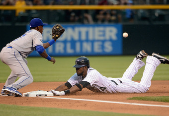 Dexter Fowler is 2nd in the MLB with 6 triples