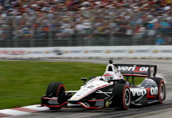 DETROIT - JUNE 03:  Will Power of Australia drives his #12 Verizon Team Penske Chevy Dallara DW12 during the IZOD INDYCAR Series Chevrolet Detroit Belle Isle Grand Prix on Belle Isle on June 3, 2012 in Detroit, Michigan.  (Photo by Jonathan Ferrey/Getty I