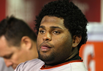 Pablo Sandoval has gained weight since being placed on the DL.