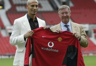 Rio Ferdinand signed for Manchester United for a then record transfer fee in 2002.
