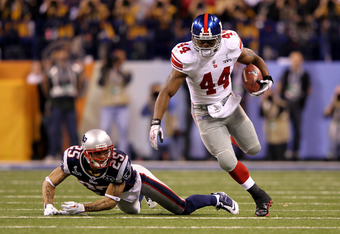 Ahmad Bradshaw, last year's leading rusher, will be Wilson's biggest competition in 2012.