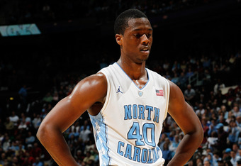 ATLANTA, GA - MARCH 11:  Harrison Barnes #40 of the North Carolina Tar Heels walks off of the court after they lost 85-82 against the Florida State Seminoles during the Final Game of the 2012 ACC Men's Basketball Conference Tournament at Philips Arena on