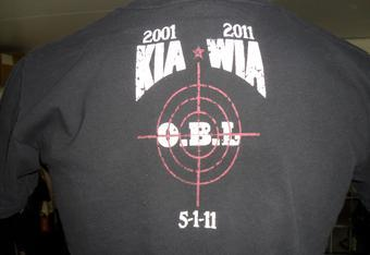 This shirt from Milifidel commemorates the mission led by the Navy's Seal Team 6 that resulted in the killing of Notorious Terrorist Osama Bin Laden