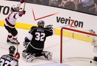 Rookie Adam Henrique notches the game-winner for New Jersey