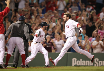 Jarrod Saltalamacchia hit the game winning home run against Tampa Bay on May 26.