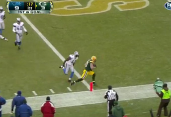 .....Or not. Nelson easily outraces the defender ofr the end zone. (footage courtesy of FOX)