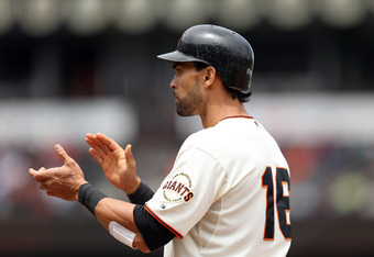 Angel Pagan has a 15 game hit streak, and has hit in 46 of 48 games this year