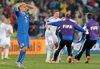 A tournament to forget for Cannavaro and co.
