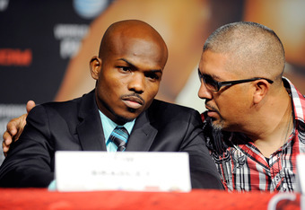 Timothy Bradley with trainer Joel Diaz.