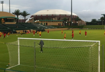 Training @ USF's Corbett field.