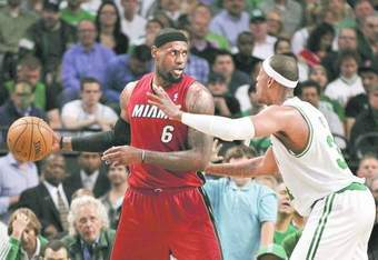 LeBron James showed the Celtics in game six why the Heat are the favorites to win game seven.